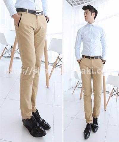 quần kaki ống đứng-1