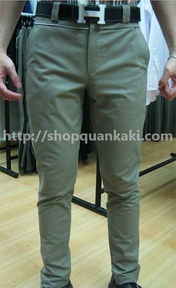 quần kaki ống đứng