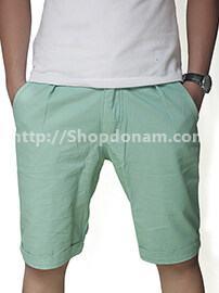 Quần short kaki nam màu xanh ngọc-1