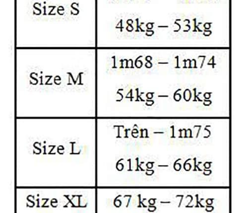 Cách chọn size quần áo cho nam giới phần 2