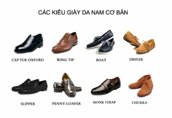8 loại giày da nam đẹp