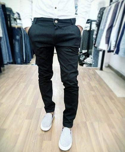 Quần kaki co giãn màu đen