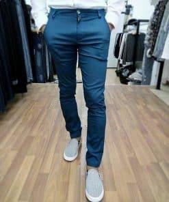 Quần kaki co giãn màu xanh coban