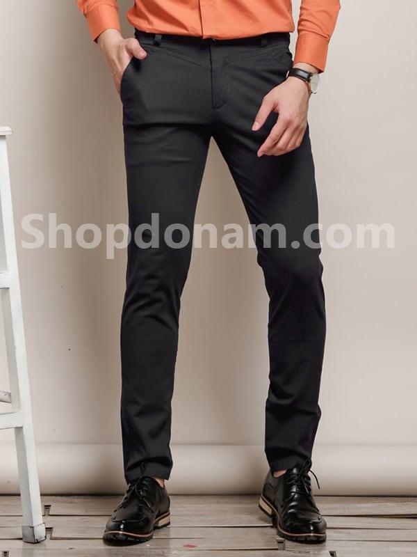 Quần kaki nam Hàn Quốc màu đen QK149-1