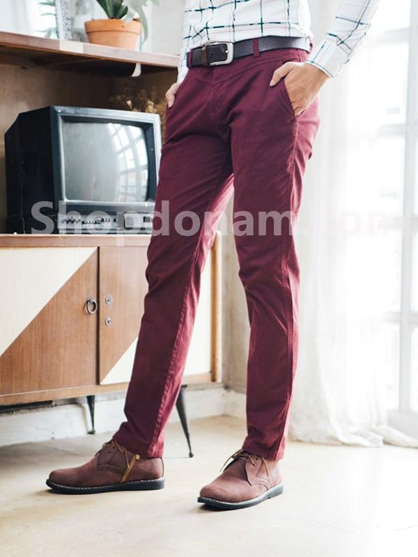 Quần kaki nam Hàn Quốc màu đỏ đô QK149-2