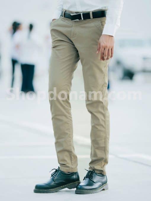 Quần kaki nam Hàn Quốc màu nâu QK149-1