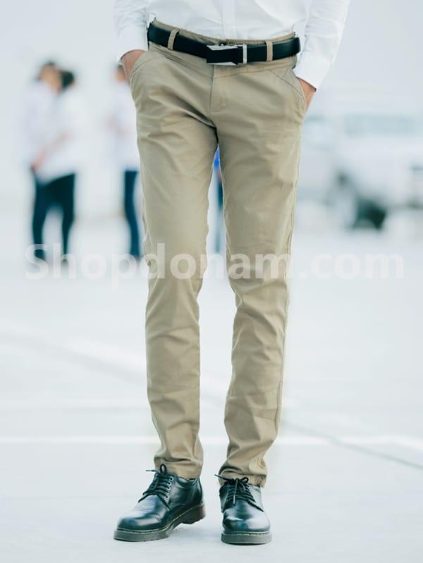 Quần kaki nam Hàn Quốc màu nâu QK149