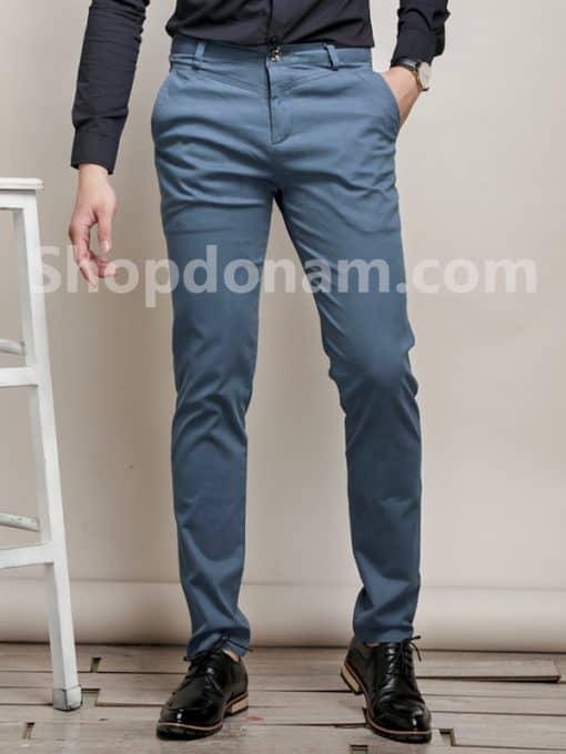 Quần kaki nam Hàn Quốc màu xám xanh QK149-2