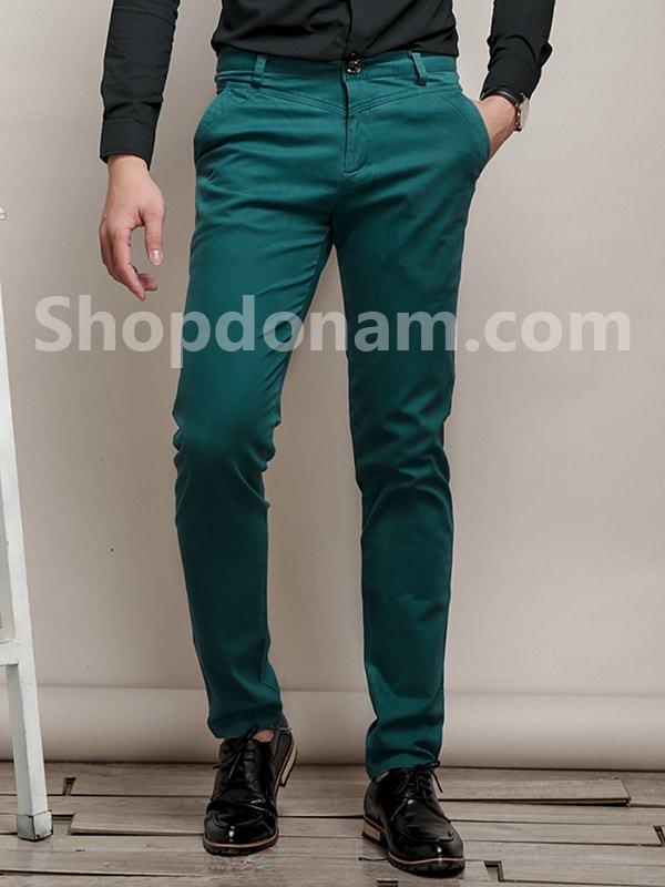 Quần kaki nam Hàn Quốc màu xanh cổ vịt QK149