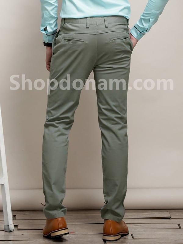 Quần kaki nam Hàn Quốc màu xanh rêu QK149-2