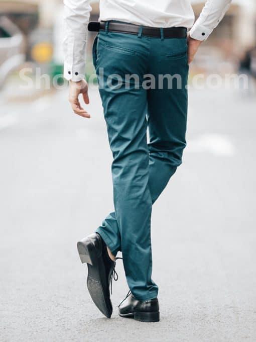 Quần kaki nam màu xanh cổ vịt QK161-1