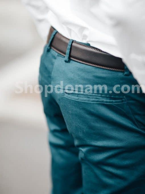Quần kaki nam màu xanh cổ vịt QK161-3