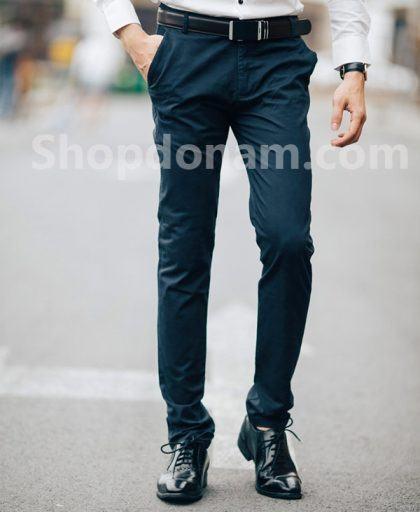 Quần kaki nam màu xanh đen QK161